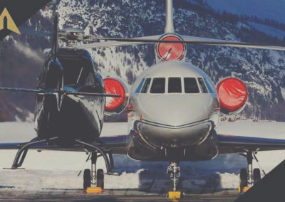 Arrive in the Alps by private jet