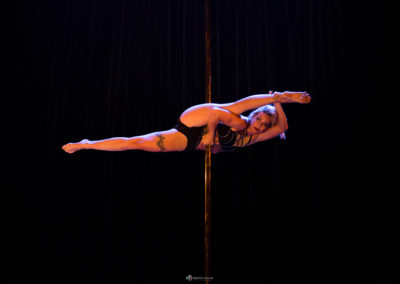 Acrobatic pole dance show