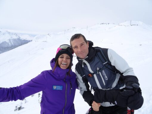 VLS ski lesson bear grylls