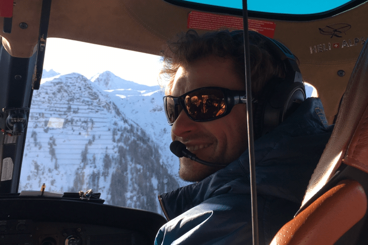 Meet Vincent The Helicopter Pilot – Time to book your heliskiing in Verbier…